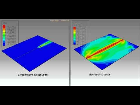How To Arc Weld >> ABAQUS FEA butt welding - YouTube