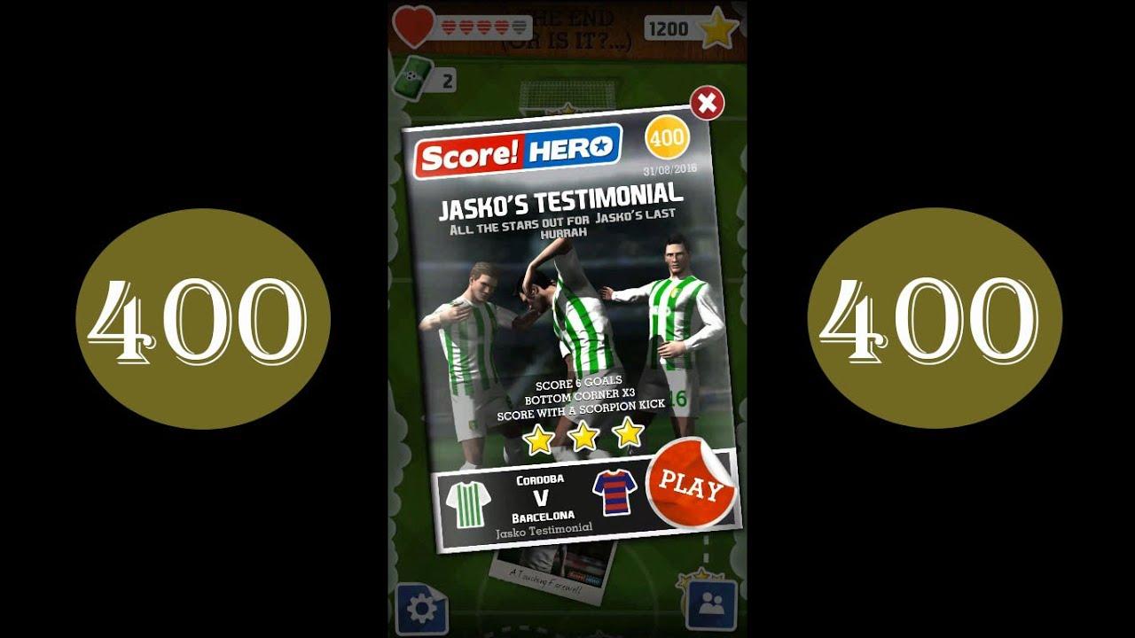 Score Hero level 400