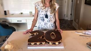 How To: Number Shaped Cookie Cake - Neurotic Mom Bakes