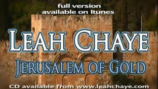 Jerusalem of Gold - English - Leah Chaye - A Song of Peace