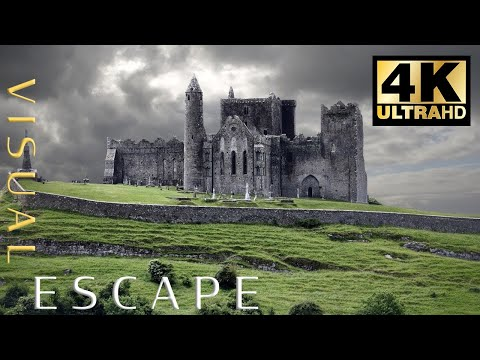 Ireland in 4K Drone Fly By - 60 minutes of Relaxing and Calming Music
