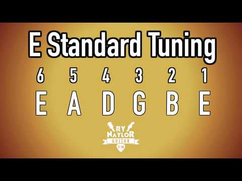 E Standard Tuning Guitar Notes - E Guitar Tuner