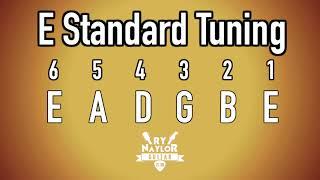 E Standard Tuning Guitar Notes - E Guitar Tuner