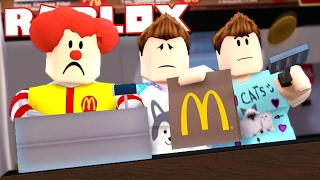 Roblox Adventures - DENIS, ALEX & SUB GET A JOB AT MCDONALDS! (Fast Food Restaurant Obby)