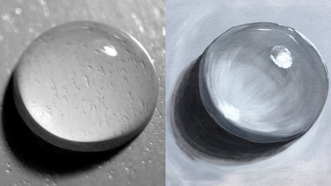 10 Easy Steps For Painting Realistic Water Drop Acrylic Beginners