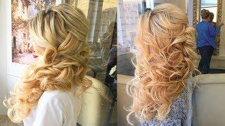 Как сделать греческую косу на бок (вариант 2-й)? Урок по свадебным прическам от Элен Мартиросян