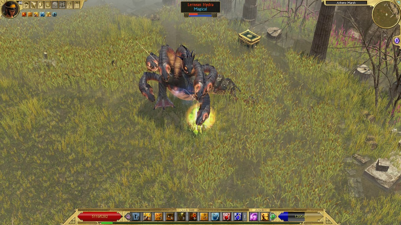 where is the hydra in titan quest immortal throne