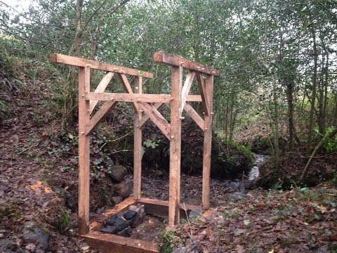 DIY Micro Hydro Electric Part 4 Powerhouse Timber Frame