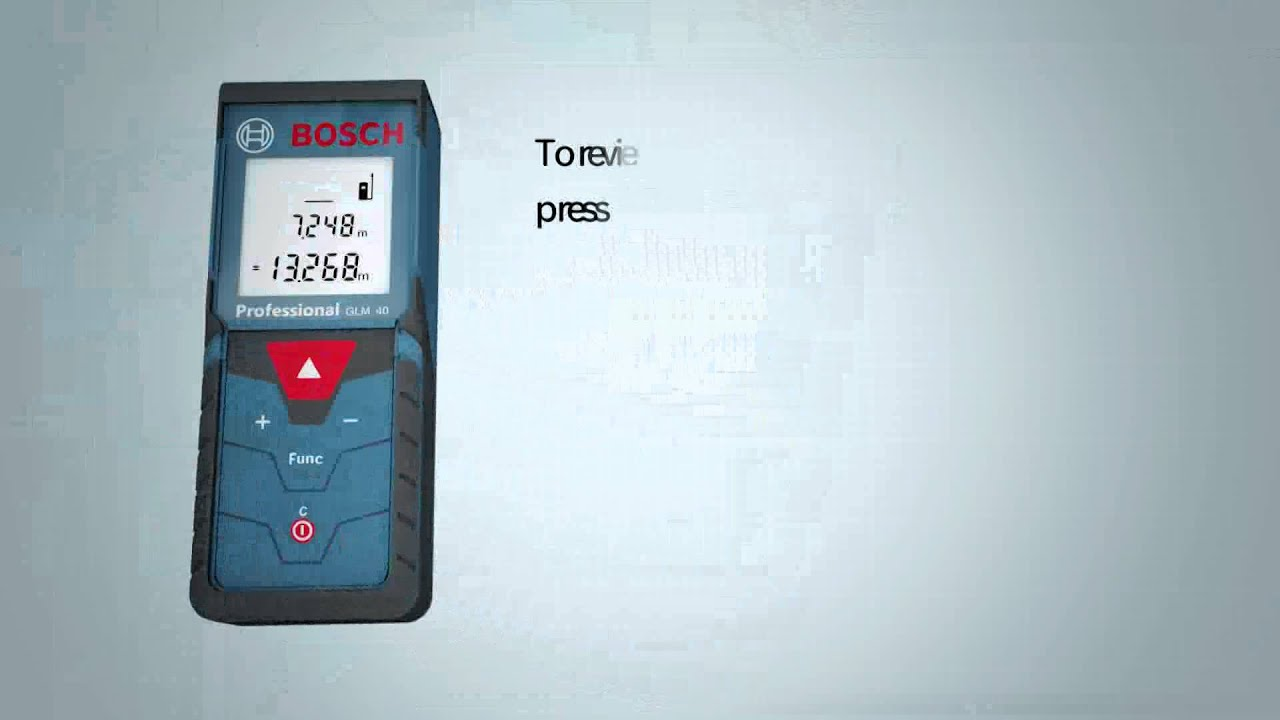 Bosch Blue Professional Measuring Tools Glm 40 Rangefinder Up To 40m New Youtube
