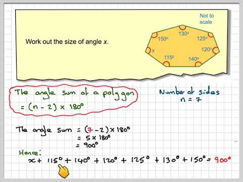 Finding The Size Of An Interior Angle Of A Heptagon