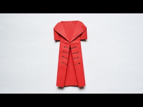 How to make UNIFORM | ORIGAMI Clothes Coat out of paper | Tutorial DIY