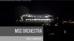 Die MSC ORCHESTRA am 05.06.19 nach Hamburg