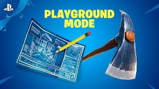 Fortnite - New Limited Time Mode: Playground | PS4