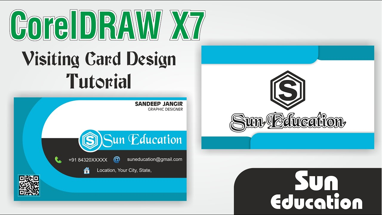 coreldraw x7 tutorial 55  how cand make bussiness card