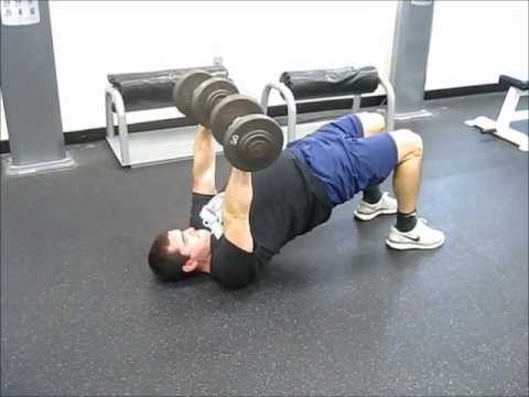 Dumbbell Floor Press w/ Glute Bridge