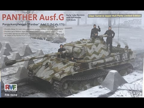 Building the Ryefield Model  Panther G with full interior part 1 step by step