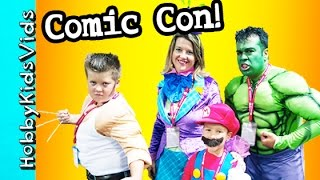 comic con cool costumes toy surprise behind the scenes fun hobbykidsvids