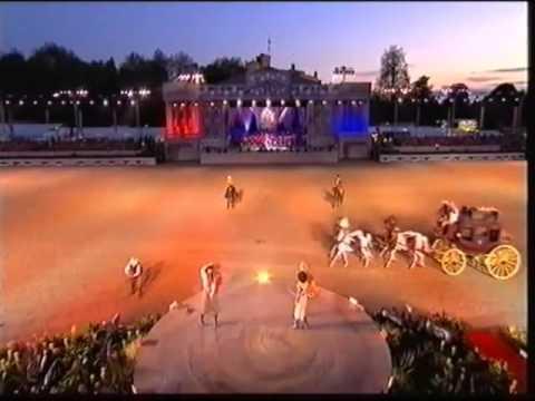 The Riata Ranch Cowboy Girls performing for Queen Elizabeth II