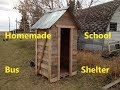 Homemade Canadian Tire School Bus Shelter