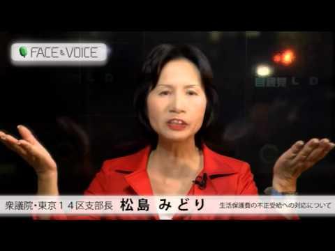 【FACE&VOICE】東京14区支部長・松島みどり(3)