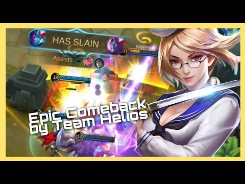 Mobile Legends Gameplay 13 - Team Helios Epic Comeback  Br-Eyes