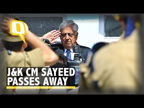 J&K CM Mufti Mohammad Sayeed Breathes his Last