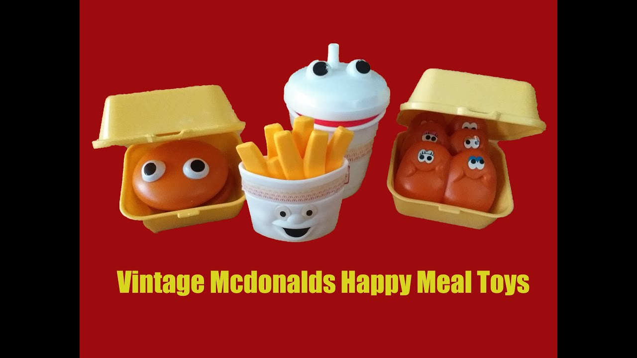 Fun Vintage Mcdonalds Happy Meal Toys From The Late 80 Early 90s