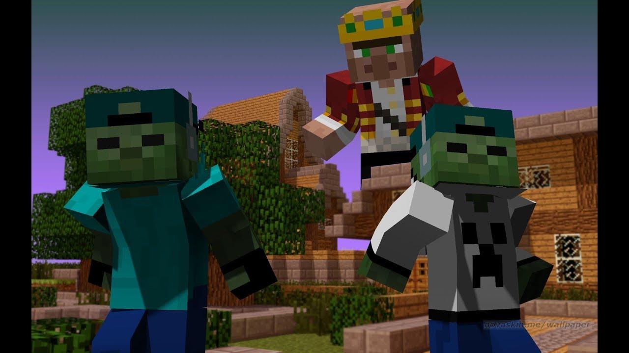FRIENDLY ZOMBIE MARK FOUND THE BIGGEST VILLAGER KING IN Minecraft !