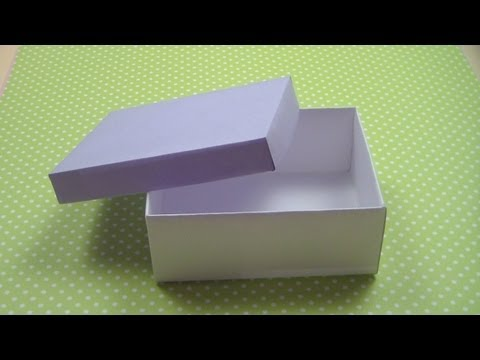 Как сделать КОРОБКУ С КРЫШКОЙ / How to make а Paper Box /  NataliDoma