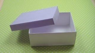 как сделать шкатулку из картона с крышкой схема своими руками