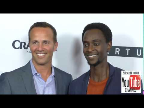 Edi Gathegi and Eric Berger at the Premiere Of Crackle's Startup at London Hotel in West Hollywood
