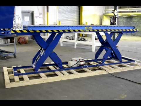 Verti Lift Tandem Scissor Lift Table With Conveyor Youtube