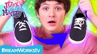 Magic Self-Tying Shoe Laces | JUNK DRAWER MAGIC