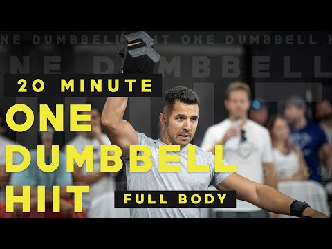 20 MINUTE ONE DUMBBELL FULL BODY HIIT WORKOUT || PMA FITNESS |