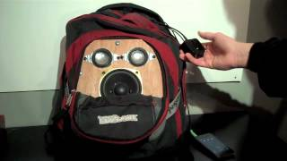 Speaker System Built into Backpack + Bass