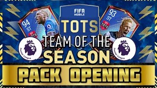 90+ epl tots player in first pack & 4 tots packed! | fifa mobile epl tots bundle pack opening