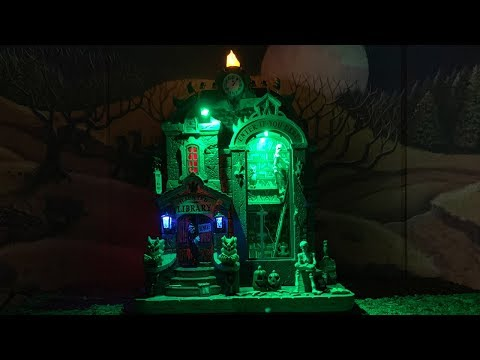 Lemax Spooky Town Haunted Library Review - NEW 2019 Michaels Exclusive