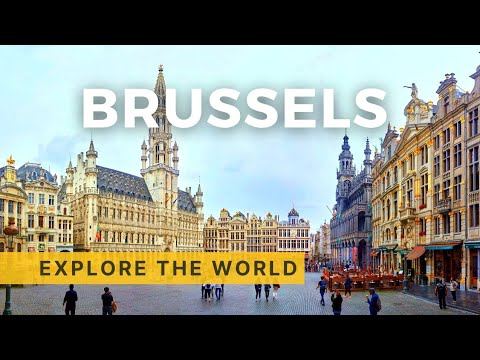 🇧🇪 Walking in BRUSSELS 4K, Belgium