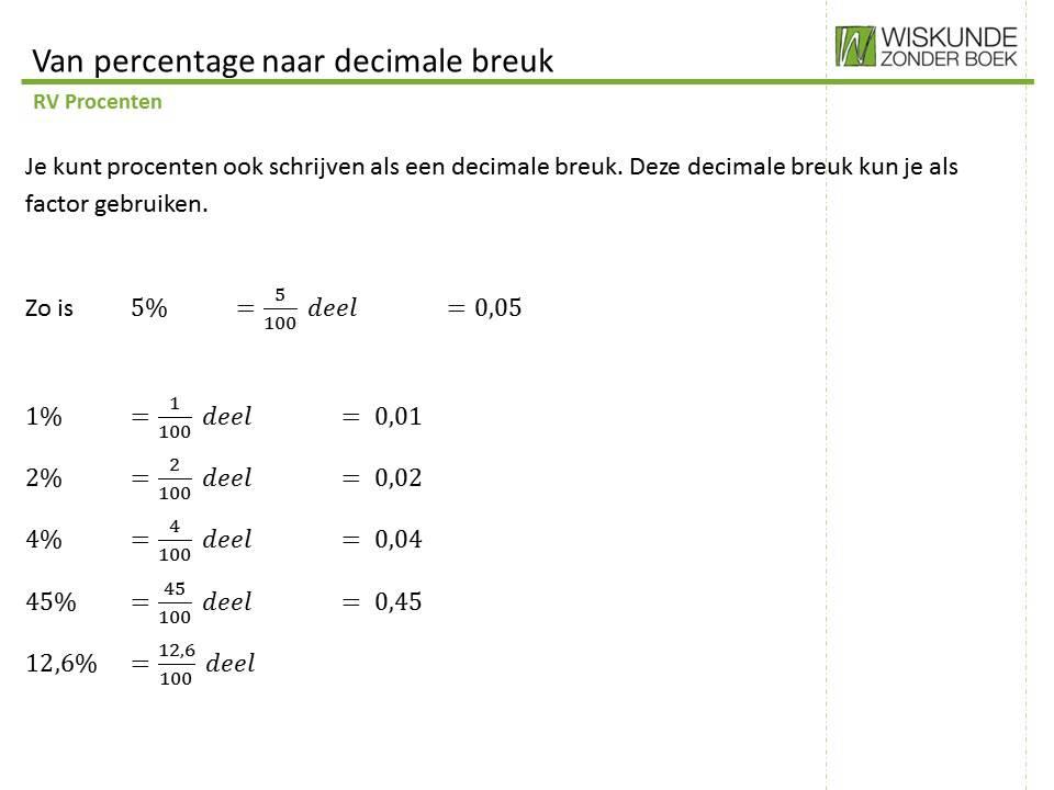 3. Van percentage naar decimale breuk - YouTube
