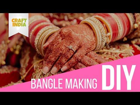 BANGLE MAKING   DIY   CRAFT INDIA