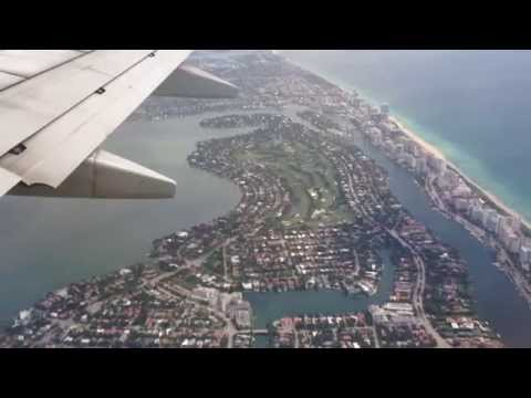 Miami, Florida - Landing at Miami International Airport - Eastern Approach HD (2014)