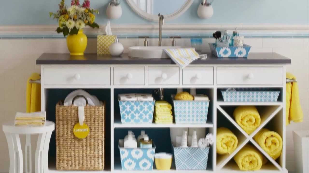 Easy storage ideas for your bathroom youtube for Bathroom organization ideas