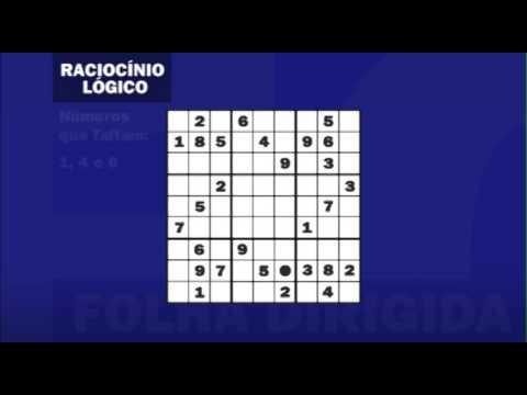 Videoaula de Raciocínio Lógico: Sudoku | Folha Dirigida