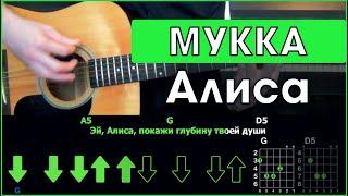МУККА - Алиса | Разбор песни на гитаре | Табы, аккорды и бой