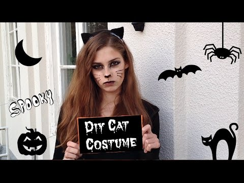 DIY Halloween Cat Costume | Cat Ears and Outfit  sc 1 st  YouTube & DIY Halloween Cat Costume | Cat Ears and Outfit - YouTube
