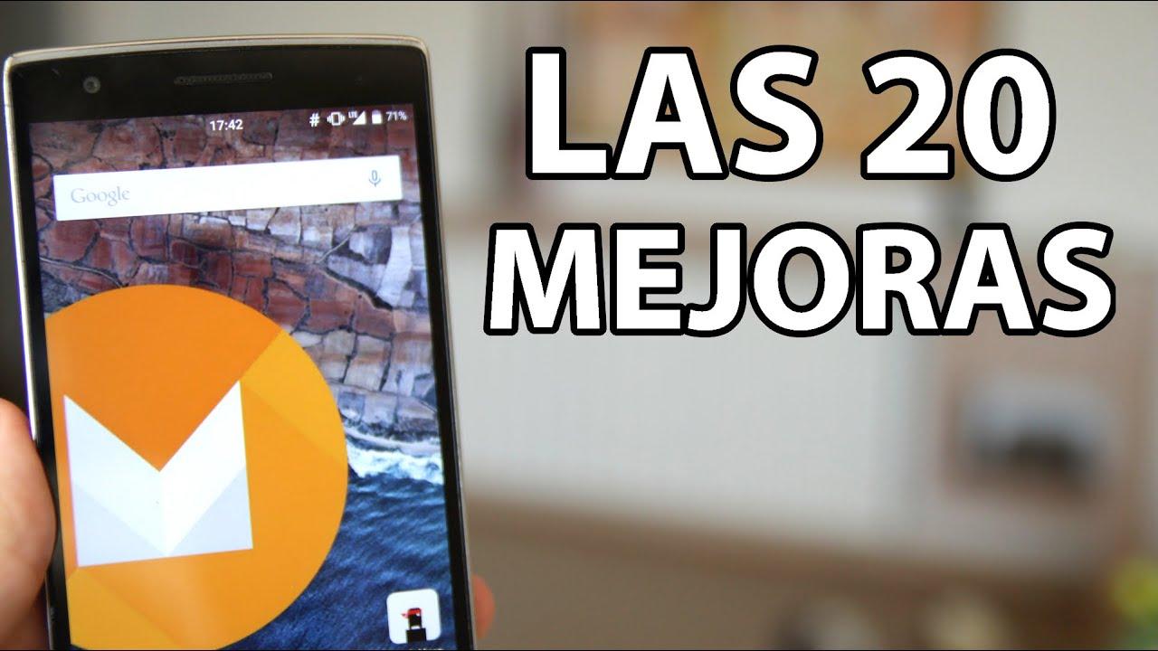 Las 20 novedades de android m objetivamente youtube for Las novedades