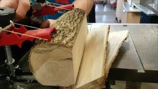 How to Quarter Saw a Log With The Little Ripper Mini Bandsaw Sawmill EthAnswers