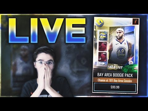 NBA Live Mobile | BAY AREA BOOGIE PACK OPENING | NEW 101 DEMARCUS COUSINS | GIVEAWAY