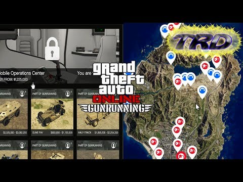 GTA Online - Gunrunning Update - All Bunker Prices & Vehicle Prices