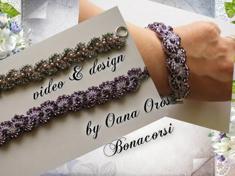 Crochet Bracelet With Beads Youtube